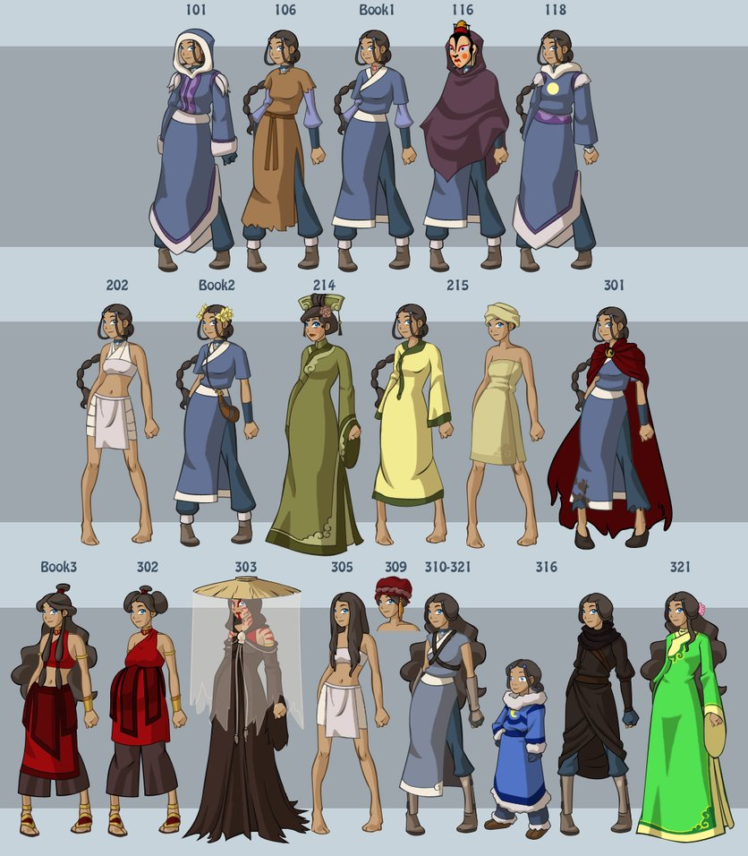 The Last Airbender All Avatars: Katara's Wardrobe By ~DressUp-Avatar On DeviantART By