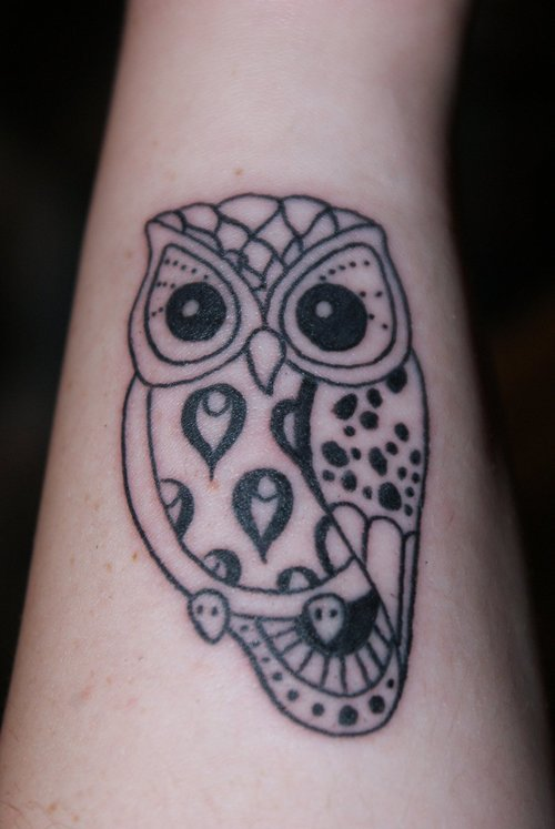 cute owl tattoos - G