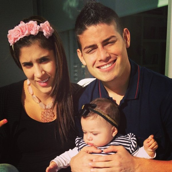 Image result for James Rodriguez with Daniela OSpina