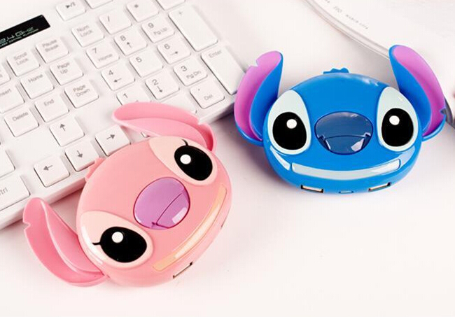 10400mAh Cute 3d Stitch Power Bank External Battery Pack Portable Charger For iPhone Samsung