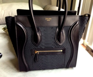 leather céline tote bag