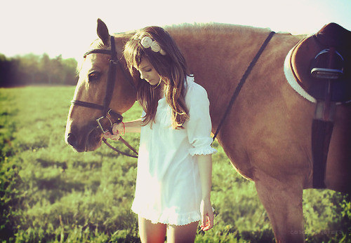 Girl and horse Nude Photos 24