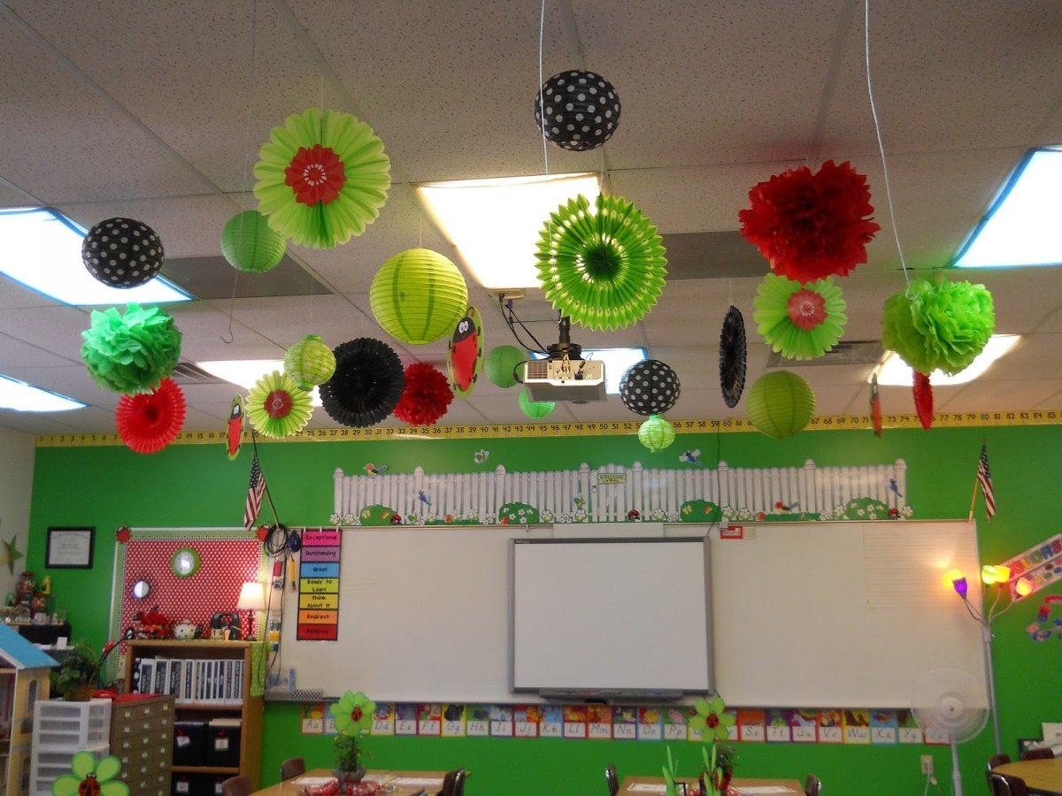 Beautiful Classroom Decoration Ideas ~ Beautiful classroom ladybug theme summer decoration with