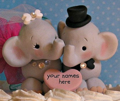 Elephant Wedding Cake Topper Elephant Wedding Cake