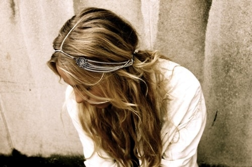 hair, headpiece, hippie, jewelry, long hair - inspiring picture on Favim.com