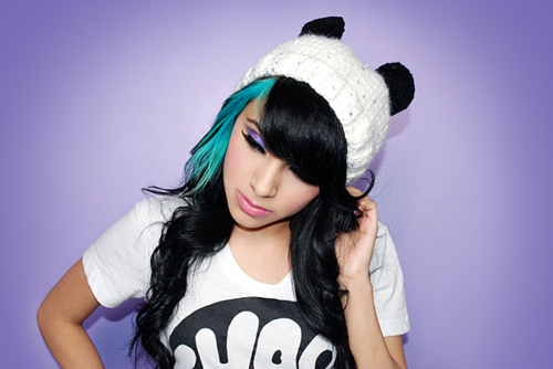 Beanie-colorful-hair-cool-cute-cute-girl-favim.com-115588_large
