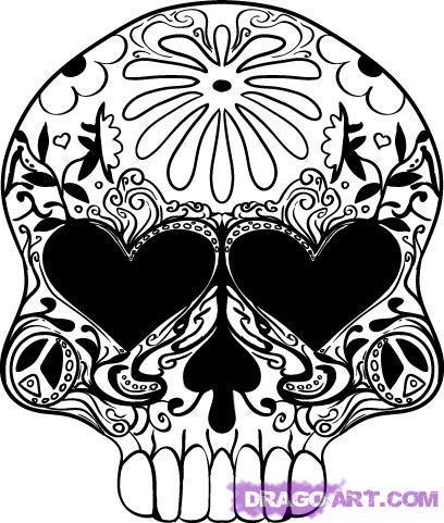 Skull Designs Drawing Mexican Skull Designs