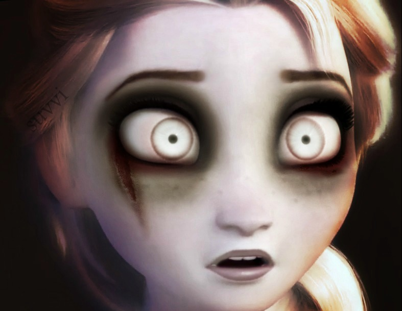 Scary Elsa We Heart It Art Creepy And Disney