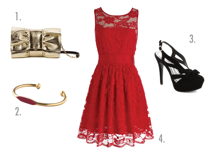 Red Holiday Party Dress Photo Album - Reikian