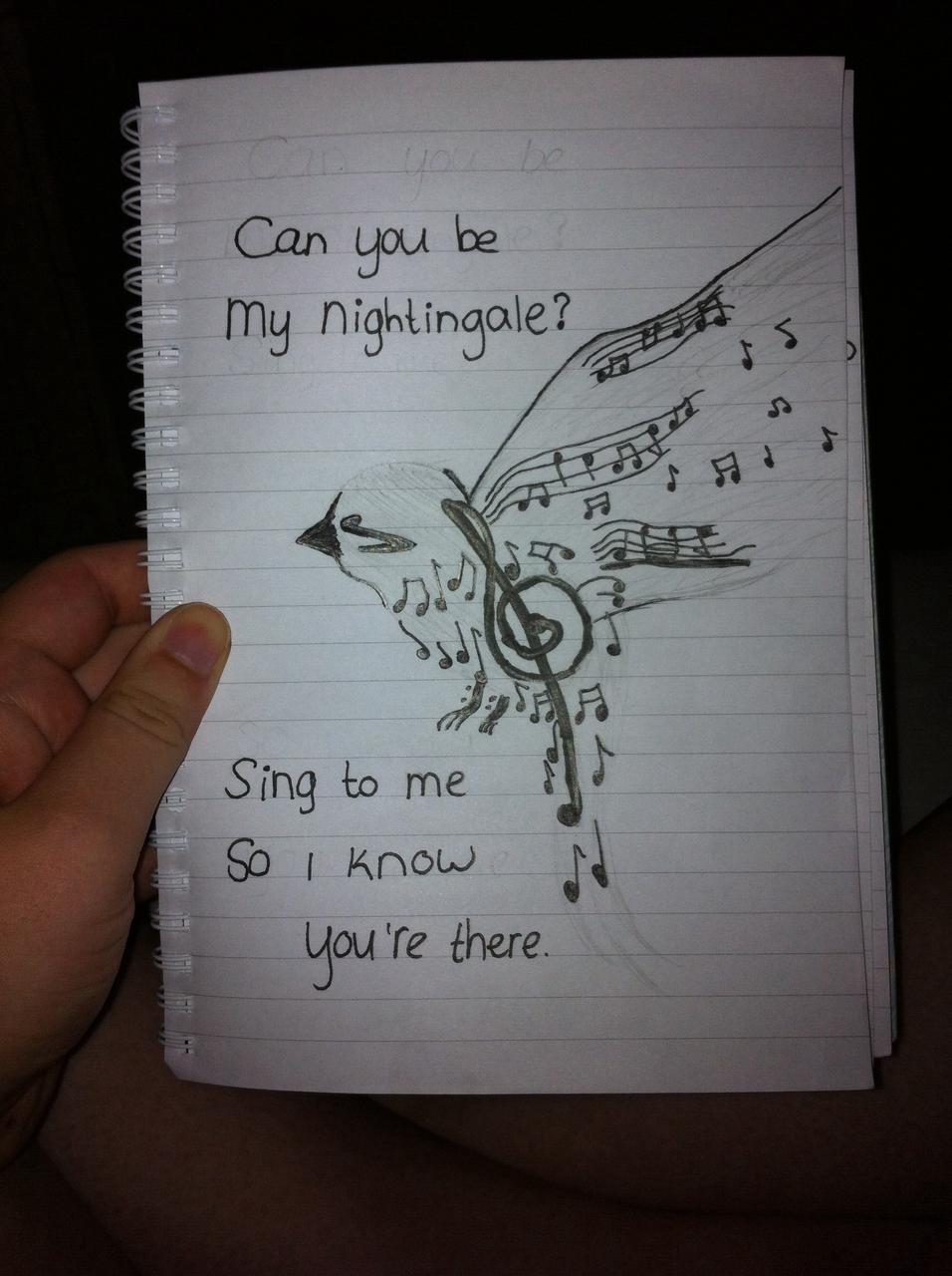 Nightingale Bird Drawing Bird Nightingale Musicnote