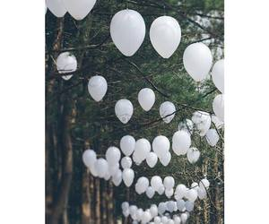 balloons; forest