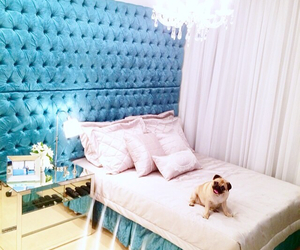 room bed blue beautiful