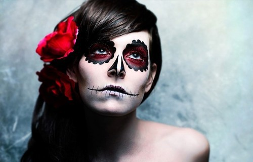 Tim,burton,ish,face,paint,flower,skull,girl,makeup-ce88d1cb7bbcf0e70d0c86415ffa0f9d_h_large