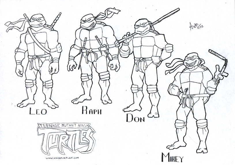 Ninja Turtles Coloring Pages for Kids on We Heart It