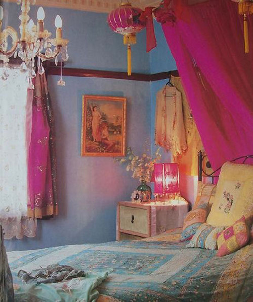 Shabby Chic Boho Bedroom: Shabby Chic Bohemian Interior Design Of ... : まねしたい☆ジプシーの