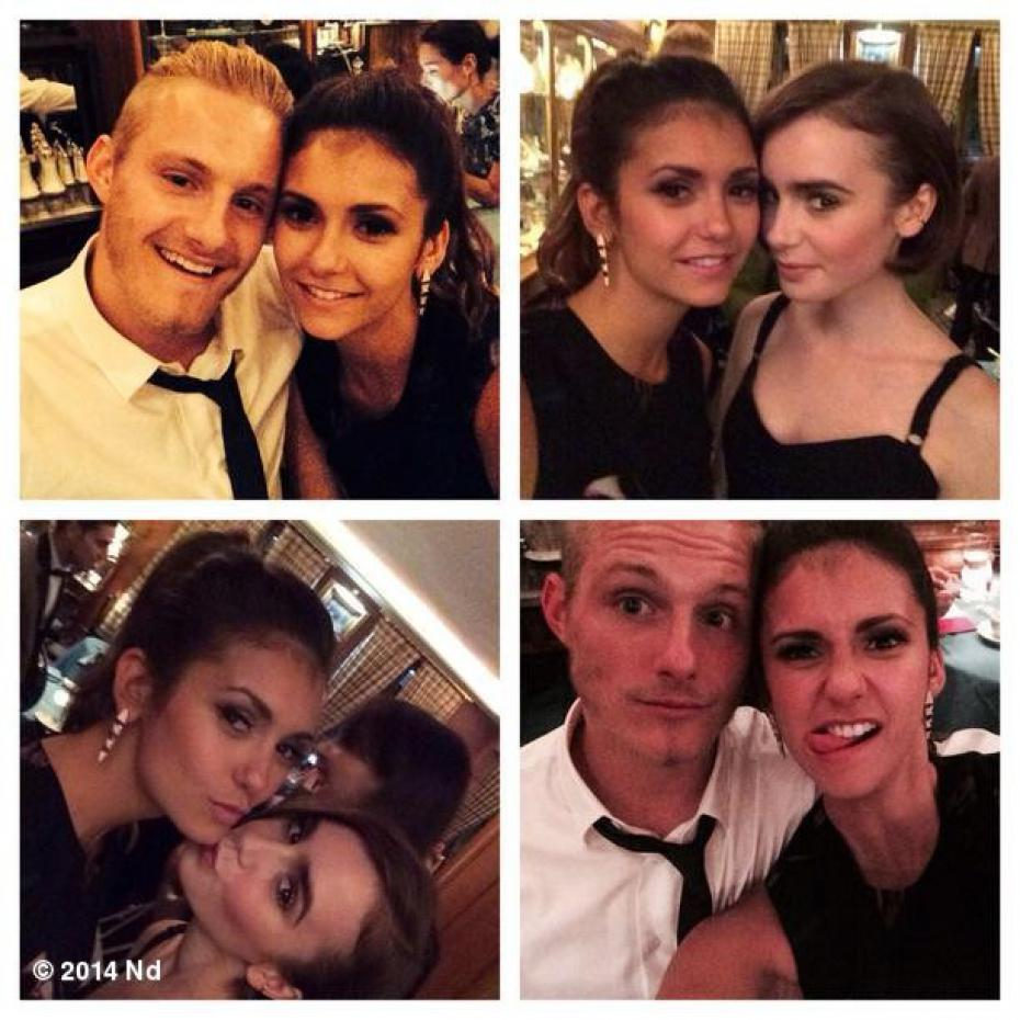 nina dobrev and alexan...