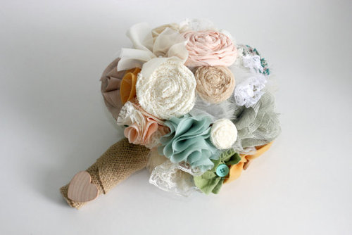 Custom Bridal Bouquet Shabby Chic beautiful by asimplestart