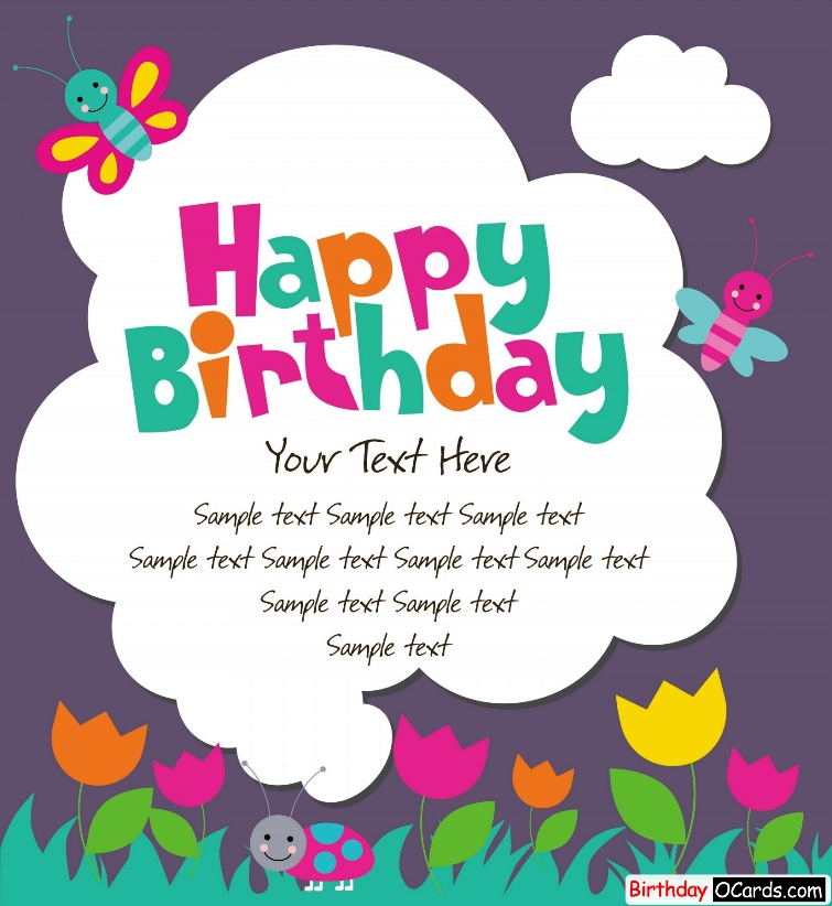 Online Printable Birthday Cards gangcraftnet – Printable Online Birthday Cards