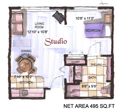 Fine Studio Apartment Design Layouts Ideas Inspiration Idea Tiny