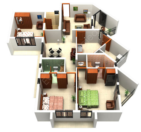 Architecture the house floor plan maker for making home House plan 3d online
