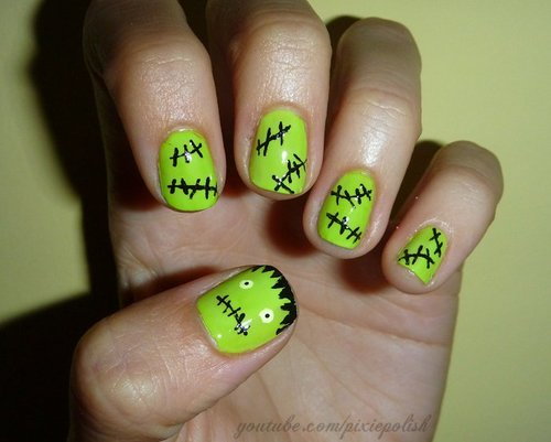 Halloween nail art love mara i have a bundle monster nail kit knock off version of konad that has some halloween stencils i looked up some nail designs and had to share them solutioingenieria Image collections