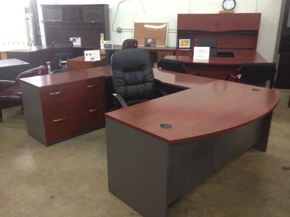 attractive bush components bow front u shaped executive desk with executive leather work chairs and minimalist drawer inspirations of bush furniture desks office desk components