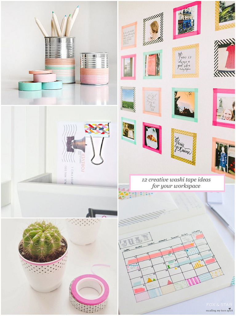 Diy faire avec du masking tape we heart it diy - Que faire avec du masking tape ...