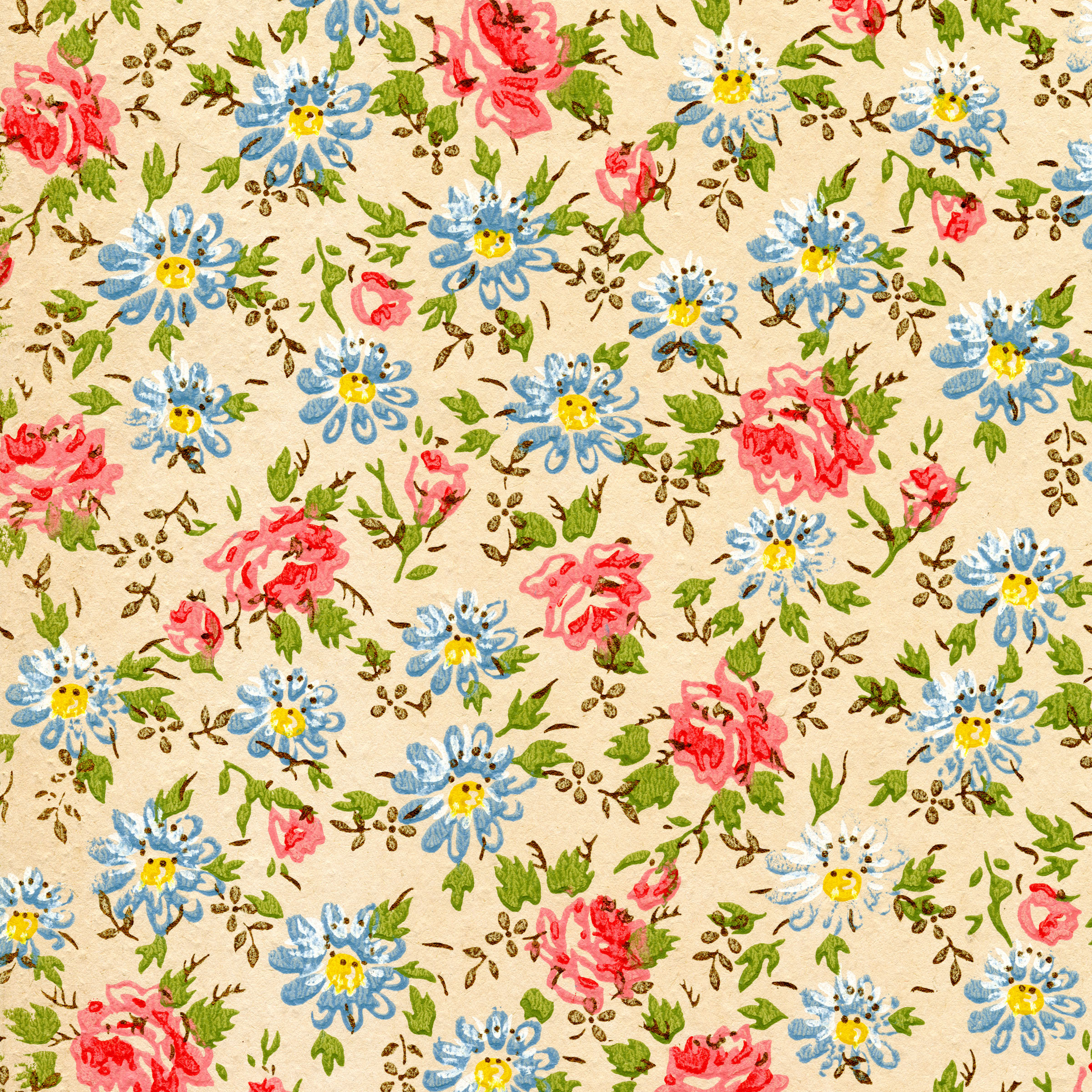 Vintage is back ...Vintage Floral Background Pattern Tumblr