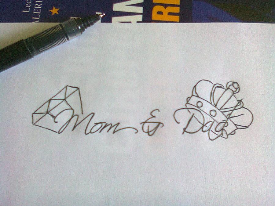 Mom N Dad Tattoo Designs