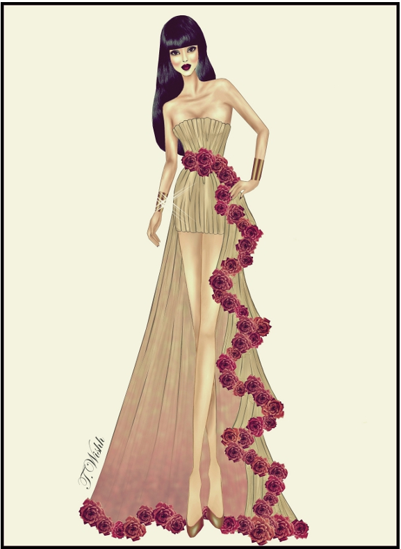 design a dress fashion design style ideas excellentdresscom by dhenawesome we heart it