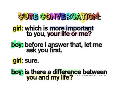 Funny boy girl conversation