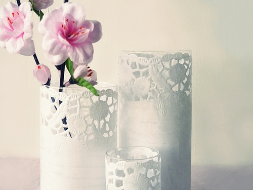 ' Nicest Things: DIY: Lace Windlicht