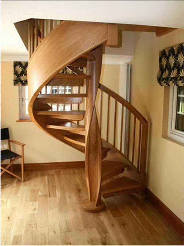 Furniture The New Spiral Staircase With Slide By Using Wooden And