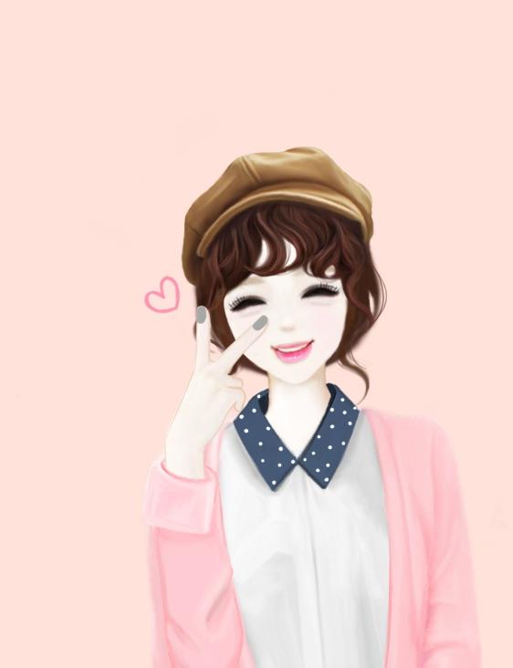 Cute Korean Anime Girl Wallpaper | pictandpicture.org