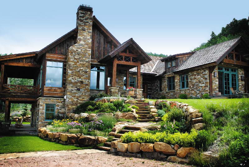 Architecture the new style of stone house plans is the - Stone house designs and floor plans ...