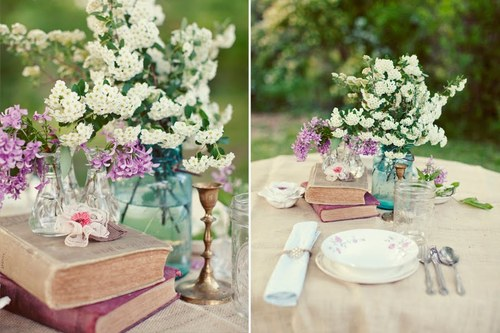 book centerpieces for weddings Google Images