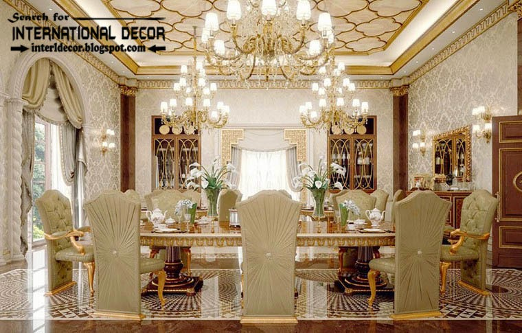 Luxury classic dining room interior design decor and for International decor