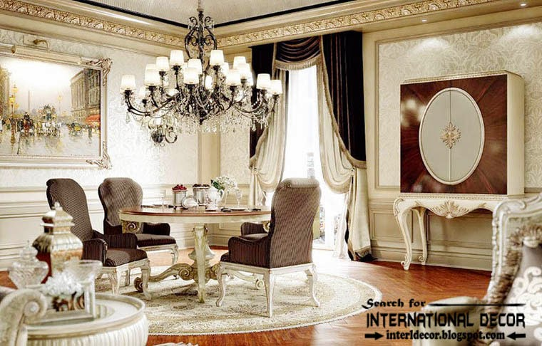 luxury classic dining room interior design decor and furniture