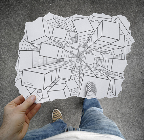 illustration, jump, perspective, vans - inspiring picture on Favim.com