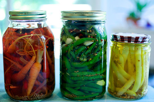 pickling jars large Summer Produce: Pickled Peppers And Fresh Fruit Boat | Earth Eats   Indiana Public Media