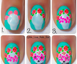 nails art flowers