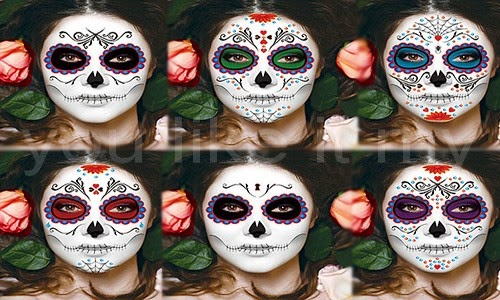 You Like It My...: Mexican Sugar Skull Makeup For Girls On Halloween