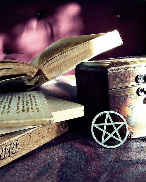 book, books, magic, pagan, pentacle - inspiring picture on Favim.com