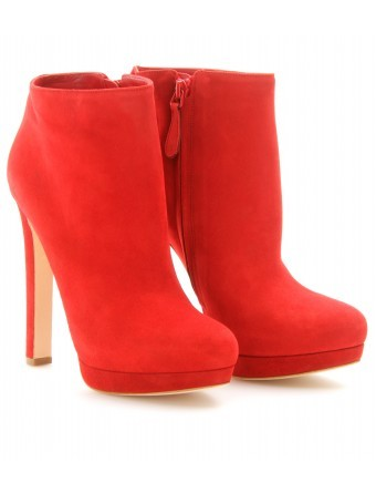 mytheresa.com - Alexander McQueen - SUEDE HIGH HEEL BOOTIES - Luxury Fashion for Women / Designer clothing, shoes, bags
