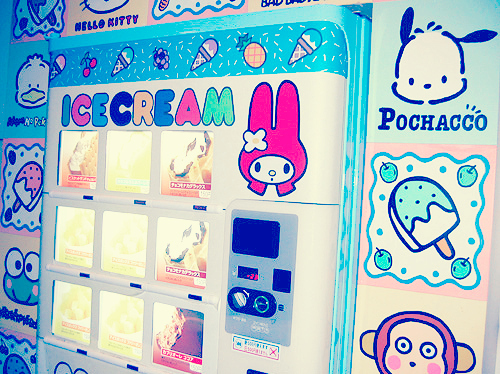 Japanese Ice Cream vending machine aimed at kids