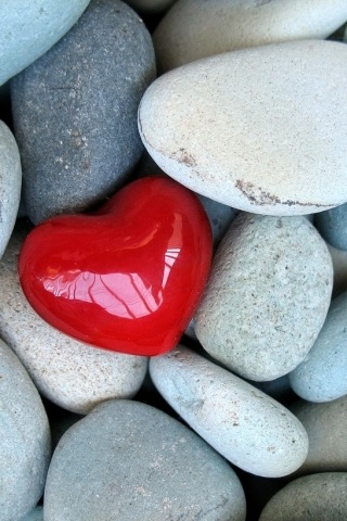Download Stone Heart Wallpaper For Mobile Phone Stone