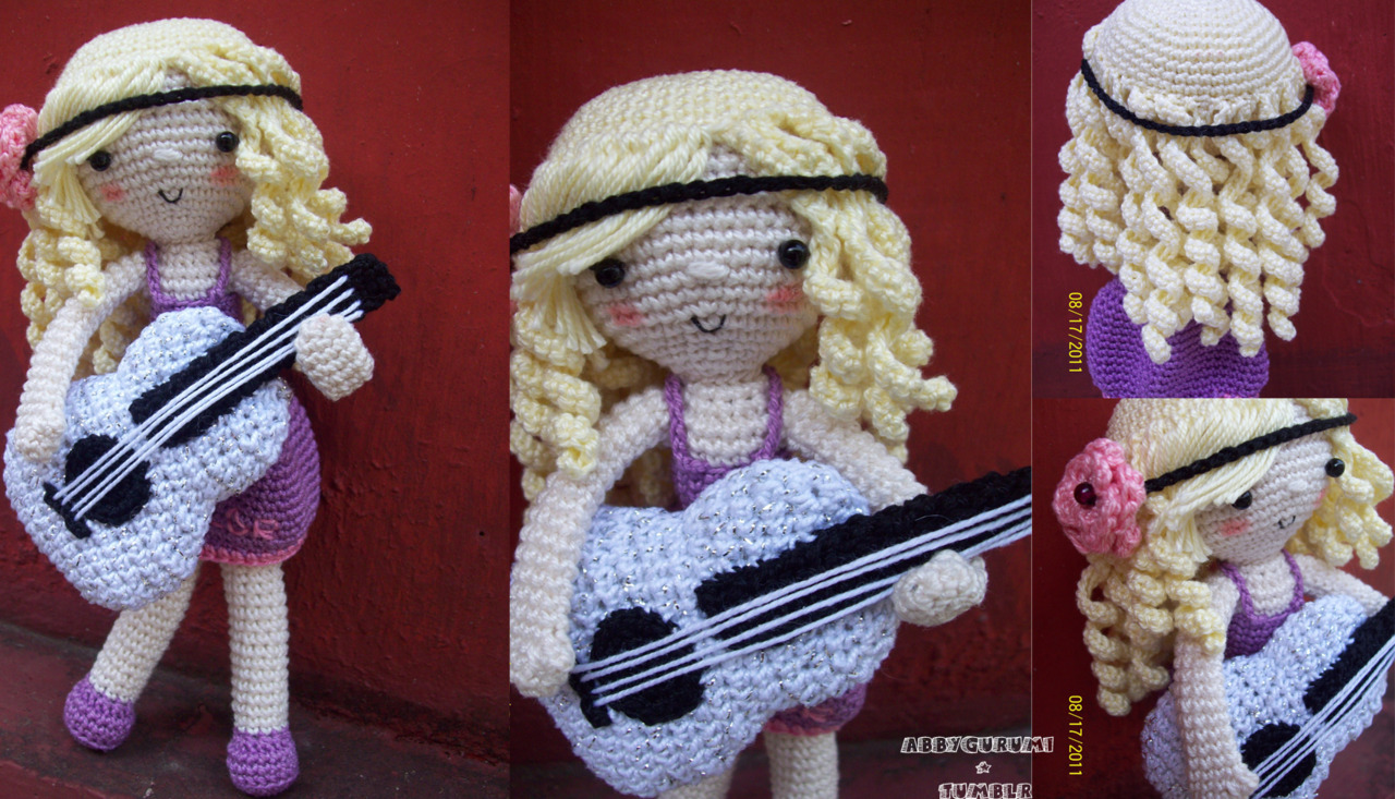 Amigurumi Guitar : Abbys Amigurumi  // this is my amigurumi version of ...