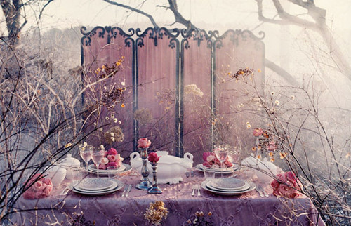 alice, alice in wonderland, dinner, divider, feminine, flowers - inspiring picture on Favim.com