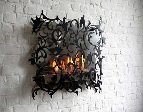 Unique Wall Mount Fireplace Decorating Ideas With Gothic Like .