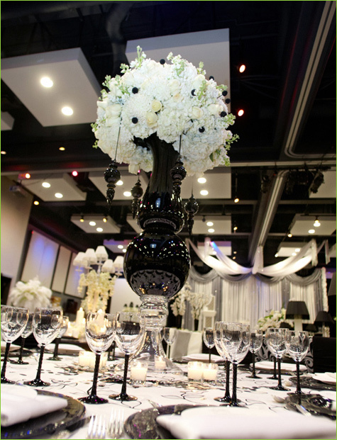 wedding reception decorations black and white - Google Images